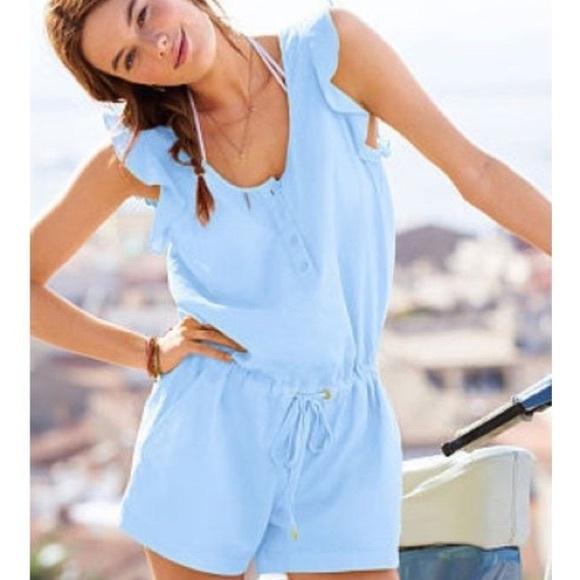 1afa9aa65638 Victoria s Secret Small Blue Romper NWT
